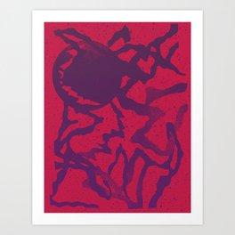 UDDER MOON Art Print