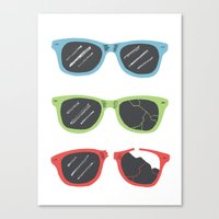 sunglasses Canvas Prints featuring Sunglasses by Things and Other Things