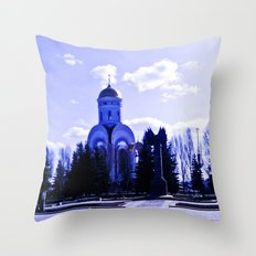 Monument in the distance. Throw Pillow