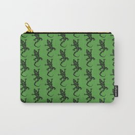 Green Gecko Pattern Carry-All Pouch