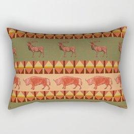 native pattern buffalo deer indigenous decoration Rectangular Pillow