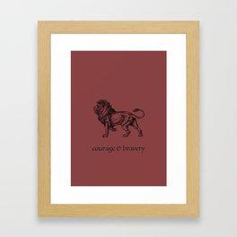 courage & bravery (Hogwarts houses) Framed Art Print