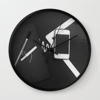 artsy Wall Clocks featuring Artsy by Patrick K