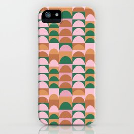 Earthy Geometric Hills iPhone Case