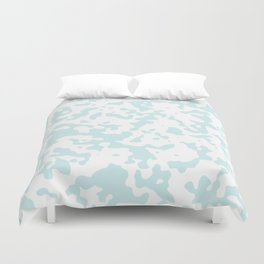 Spots - White and Light Cyan Duvet Cover