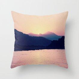 Romantic Pastel Pink Sunset #1 #art #society6 Throw Pillow