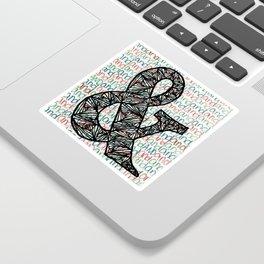 And Ampersand Sticker