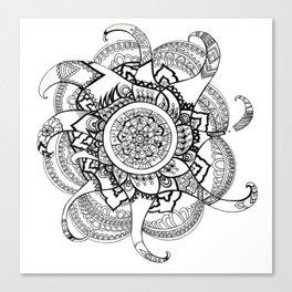 Fire Mandala Canvas Print