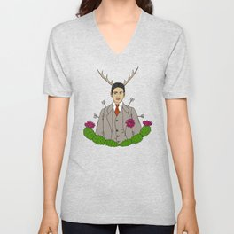 Frida Khalo Antlers and Arrows Unisex V-Neck