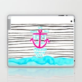 We Have This HOPE - Anchor (pink/blue) Laptop & iPad Skin