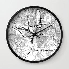 Columbus Map White Wall Clock