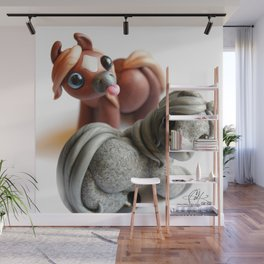 Two Tumble Ponies Wall Mural