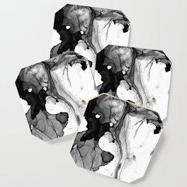 Soft Black Marble Coaster