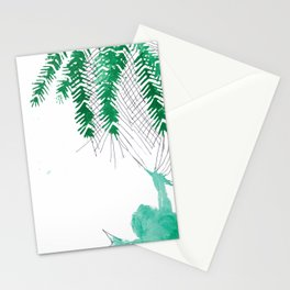 Palm tree frogs evergreen Stationery Cards