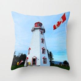 Lighthouse Panmure Island Throw Pillow
