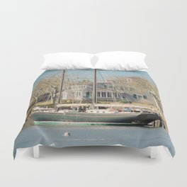 Wychmere Harbor, Cape Cod, Massachusetts Duvet Cover