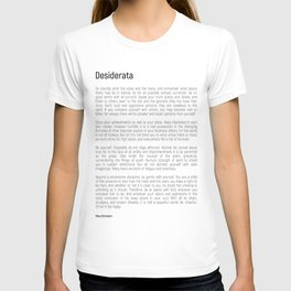 Desiderata #minimalism T-shirt