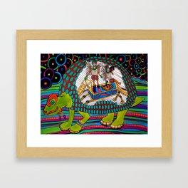 Prehistoric Boombox Framed Art Print