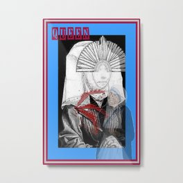 QUEEN OF SWORDS/SELF INFLICTED WOUND ( from the 'Bloody Tarot' series) Metal Print