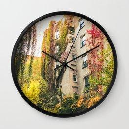 Autumn - New York City - East Village Garden Wall Clock