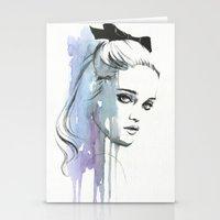 sky ferreira Stationery Cards featuring Sky Ferreira by Cora-Tiana