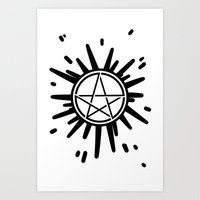supernatural Art Prints featuring Supernatural  by Elisehill3