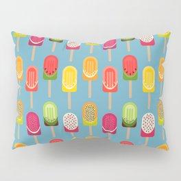 Fruit popsicles - blue version Pillow Sham