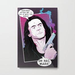 Oh Hai Mark Metal Print