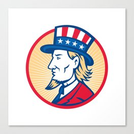Uncle Sam American Side Canvas Print