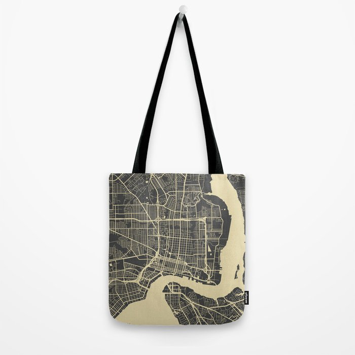 Jacksonville map Tote Bag