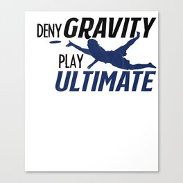 Ultimate Disc Gift Sport Jersey Player print Canvas Print
