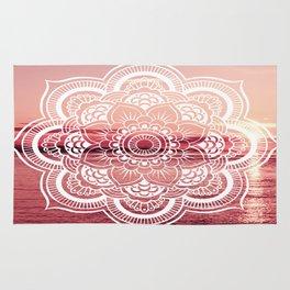 Mandala Water : Rose Pink Rug