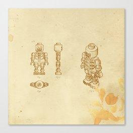 Lego Skeleton Canvas Print