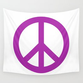 Peace (Purple & White) Wall Tapestry