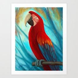 Technicolor Macaw Art Print