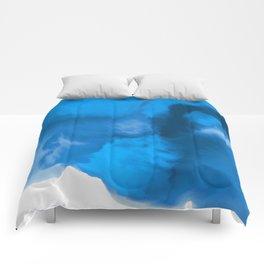 Ocean Blue Watercolor Abstract Comforters
