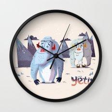 :::Happy Yetis::: Wall Clock