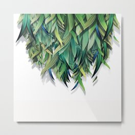 """Spring Forest of Surreal Leaf"" Metal Print"