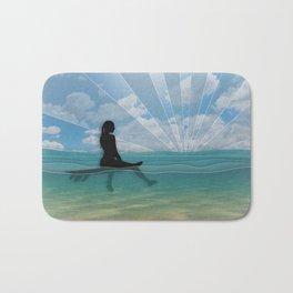 View from a Surfboard Bath Mat