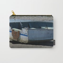 Blue Boat In Mud Carry-All Pouch