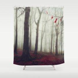 Forest in December Mist Shower Curtain