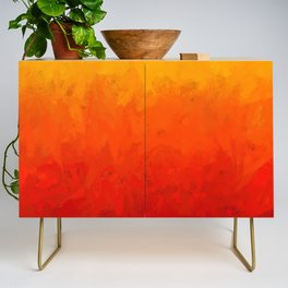Scarlet and Gold Heat Credenza