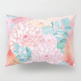 Gold dahlia bouquet #society6 Pillow Sham
