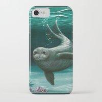 hawaiian iPhone & iPod Cases featuring Hawaiian Monk Seal ~ Acrylic by Amber Marine