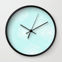 DANDY SNOWFLAKE AQUA Wall Clock