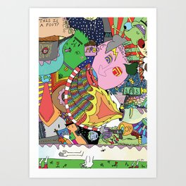 Is This A Foot? Art Print