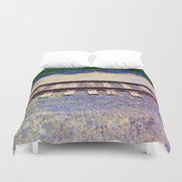 Pastel Railroad tracks Duvet Cover