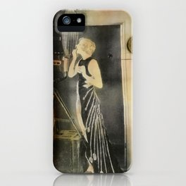 Close Your Eyes Jazz age glamour iPhone Case
