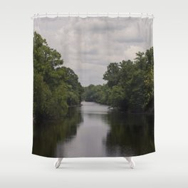 Slow Jungle River Down South Shower Curtain