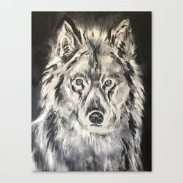 Crazy Eyed Wolf Canvas Print
